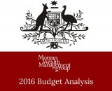 Morgan Wealth Federal Budget 2016 Superannuation